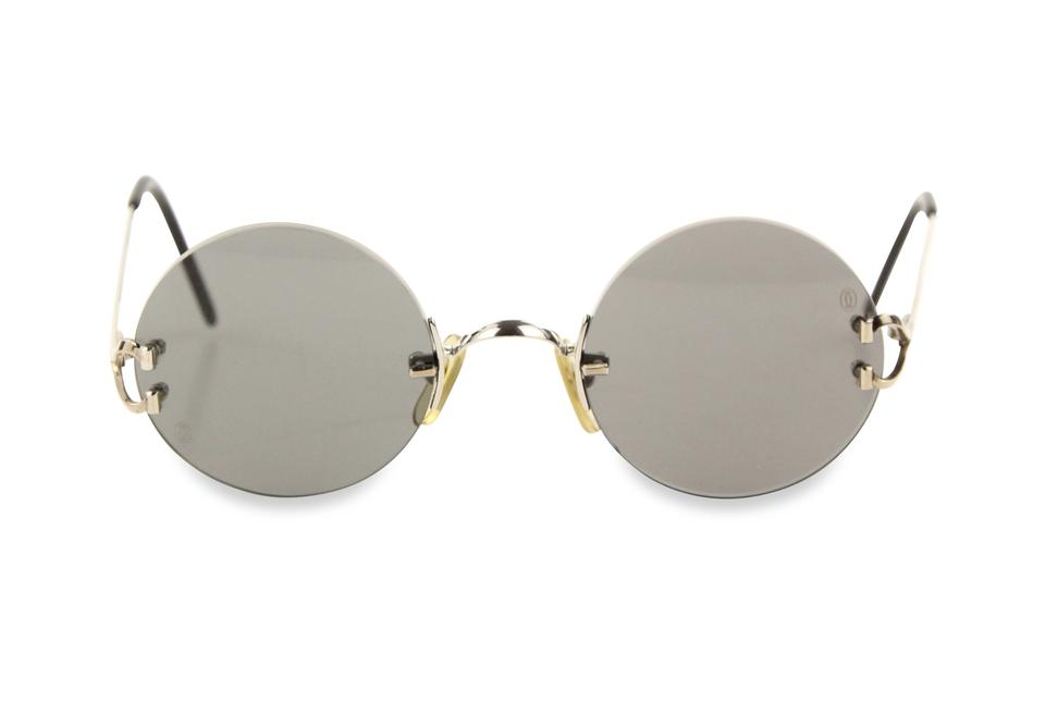 b5513f689e Cartier Silver Madison Round Rimless Sunglasses - Tradesy
