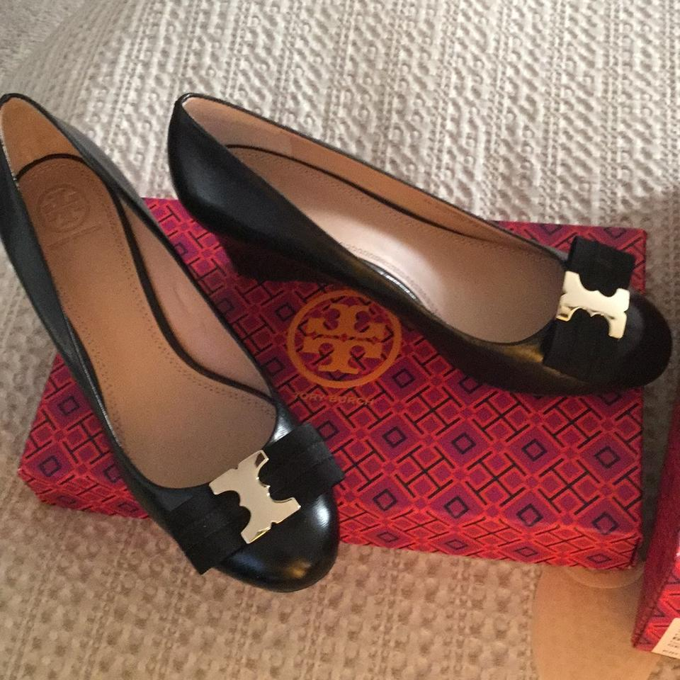0b9648c0a58 Tory Burch Gemini Link Bow 65mm Wedge Style 33147 Pumps Size US 8.5 ...