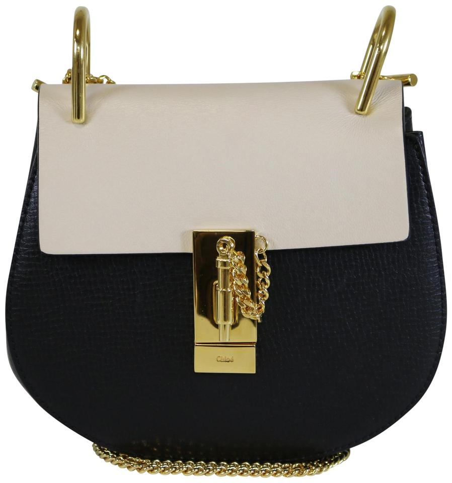 336568ef95ea Chloé Drew Black White Mini Black White Leather Cross Body Bag - Tradesy