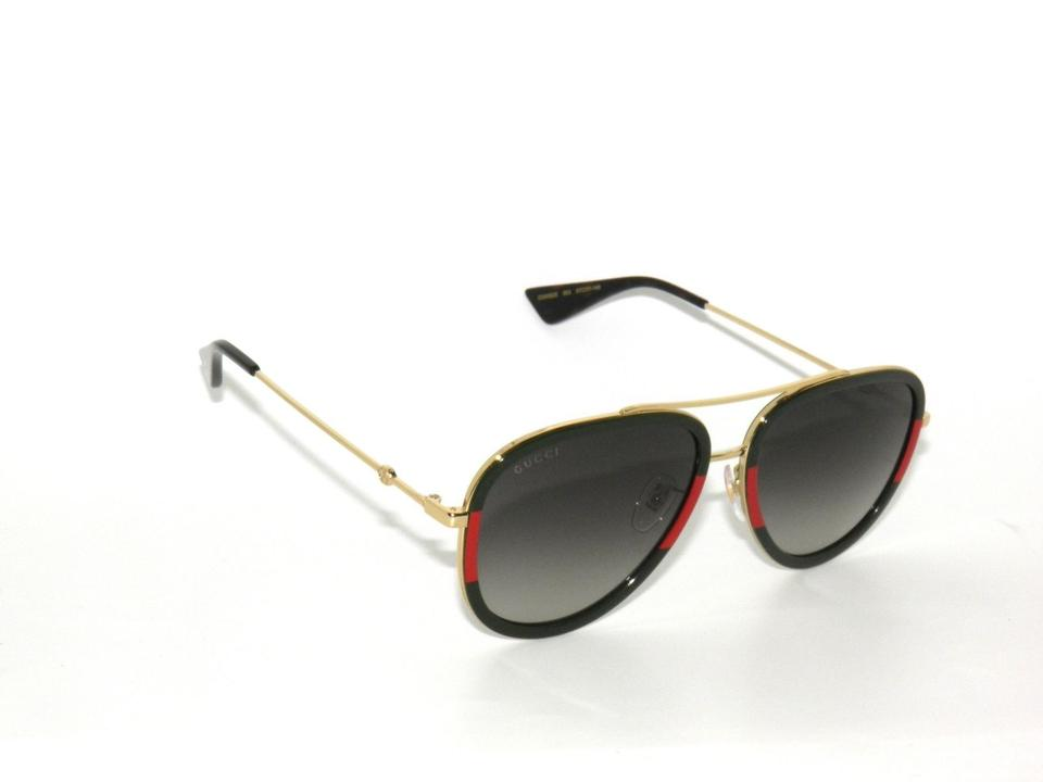 d05f5ab36ee Gucci Red Green Gold Gg0062s 003 Sunglasses - Tradesy