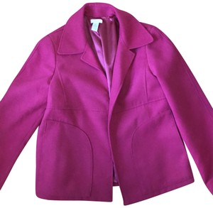 Chico's Pink Size Small Coat Fushia Jacket
