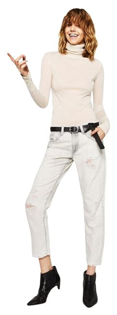 Item - Light Grey Wash Low Rise Ripped New Relaxed Fit Jeans Size 32 (8, M)