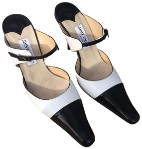 Jimmy Choo Stiletto Spectator Black/White Timeless Black/White Mules