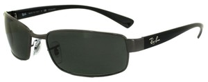 Ray-Ban Ray Ban Black frames with Green/ Grey Lens Sunglass RB 3364 002