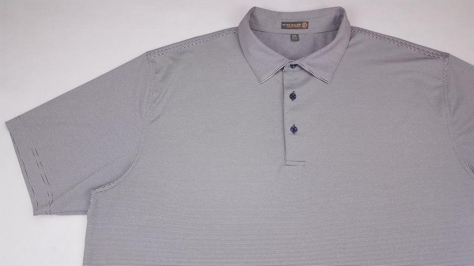 fd69ab586 Peter Millar Gray Striped 2xl Polo Summer Comfort Golf White Xxl Shirt  Image 11. 123456789101112