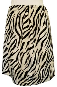 Erin London Faux Fur Faux Fur Zebra Zebra Print Animal Print Skirt Black, White