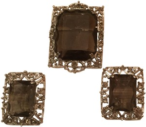 Sarah Coventry Vintage Sarah Coventry Stone Brooch & Earring Set