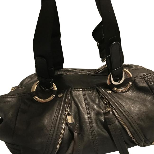 Item - Black Lambskin Leather Weekend/Travel Bag