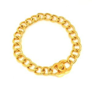 Chanel Vintage Chanel Gold-tone CC Logo Chain Choker Necklace