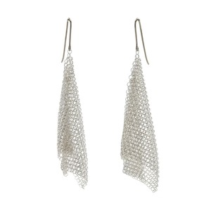Tiffany & Co. Tiffany & Co. Mesh Scarf Small Hook Earrings in Sterling Silver