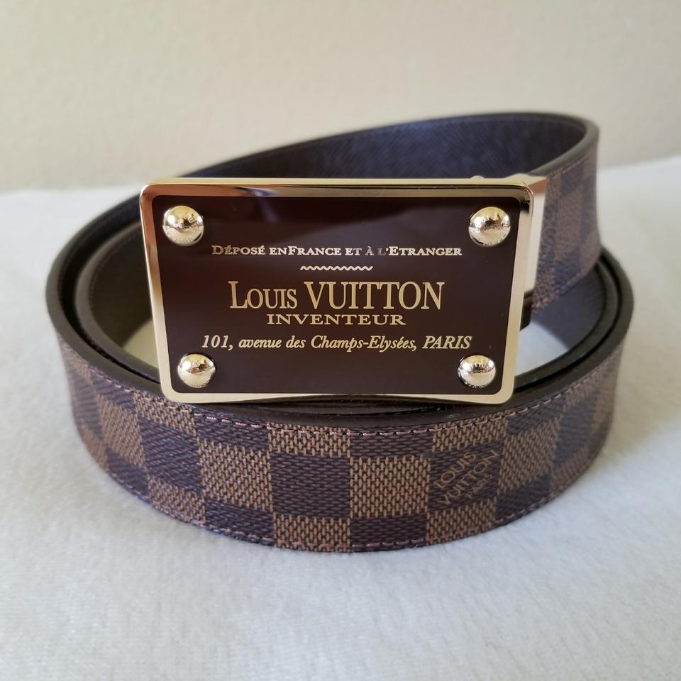 792d13bb291a Louis Vuitton Louis Vuitton Inventeur 35mm Damier Ebene Reversible Belt  Image 0 ...