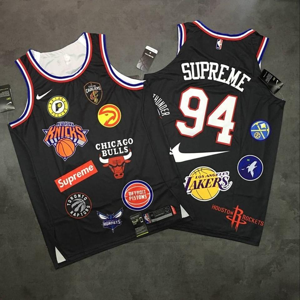 on sale 8c301 20c4d Supreme x Nike Black Jersey Limited Edition Nba Tank Top/Cami Size 8 (M)
