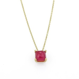 Ippolita Rock Candy Ruby Mini Square 18k Yellow Gold Pendant