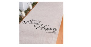 White and Black They Lived Happily Ever After Polyester 100 By 3 Inch Aisle Runner