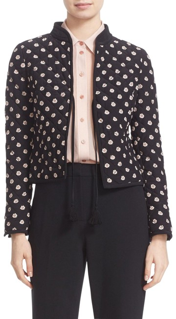 Item - Black-pink (Nwt) Ditzy Quilted Floral Silk Jacket Size 6 (S)