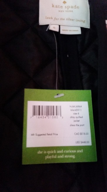 Kate Spade Black-pink (Nwt) Ditzy Quilted Floral Silk Jacket Size 6 (S) Kate Spade Black-pink (Nwt) Ditzy Quilted Floral Silk Jacket Size 6 (S) Image 4