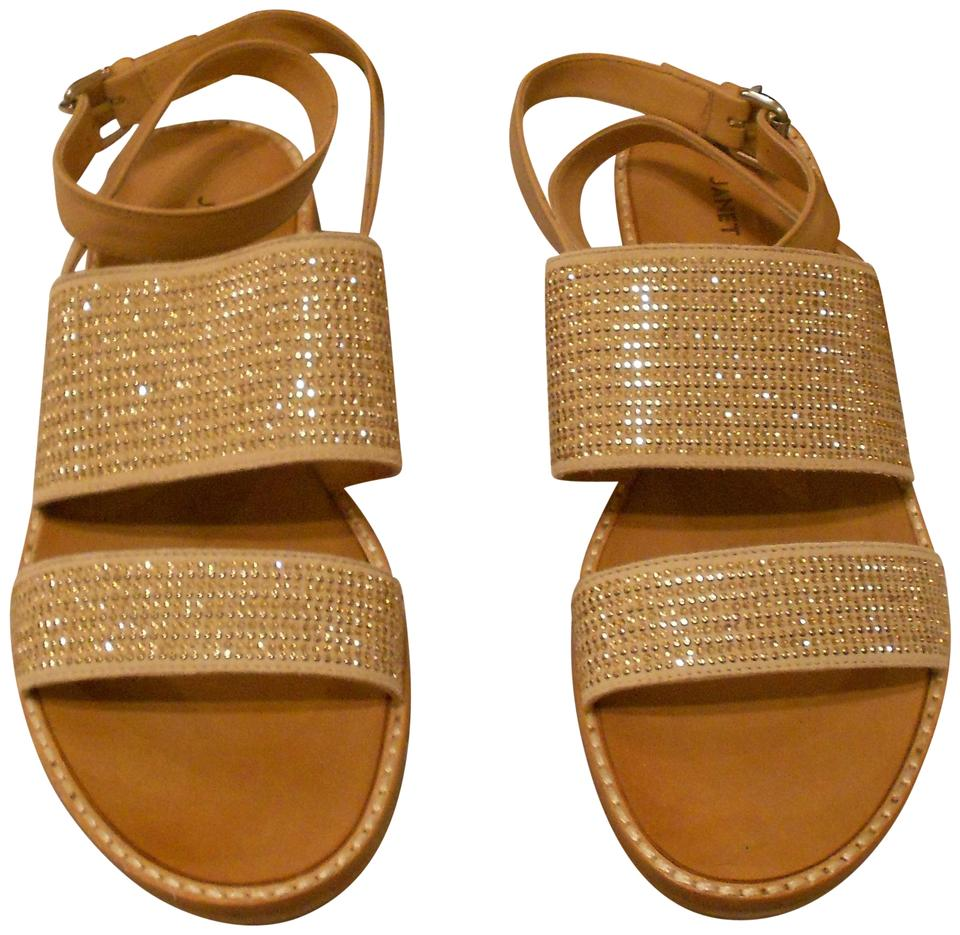 Beige Crystal Ankle Studded Ankle Crystal Strap Leather Sandals 81f96a