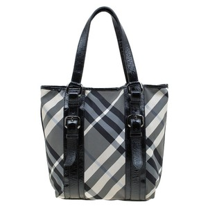 Burberry Lowry Beat Check Tote in Black