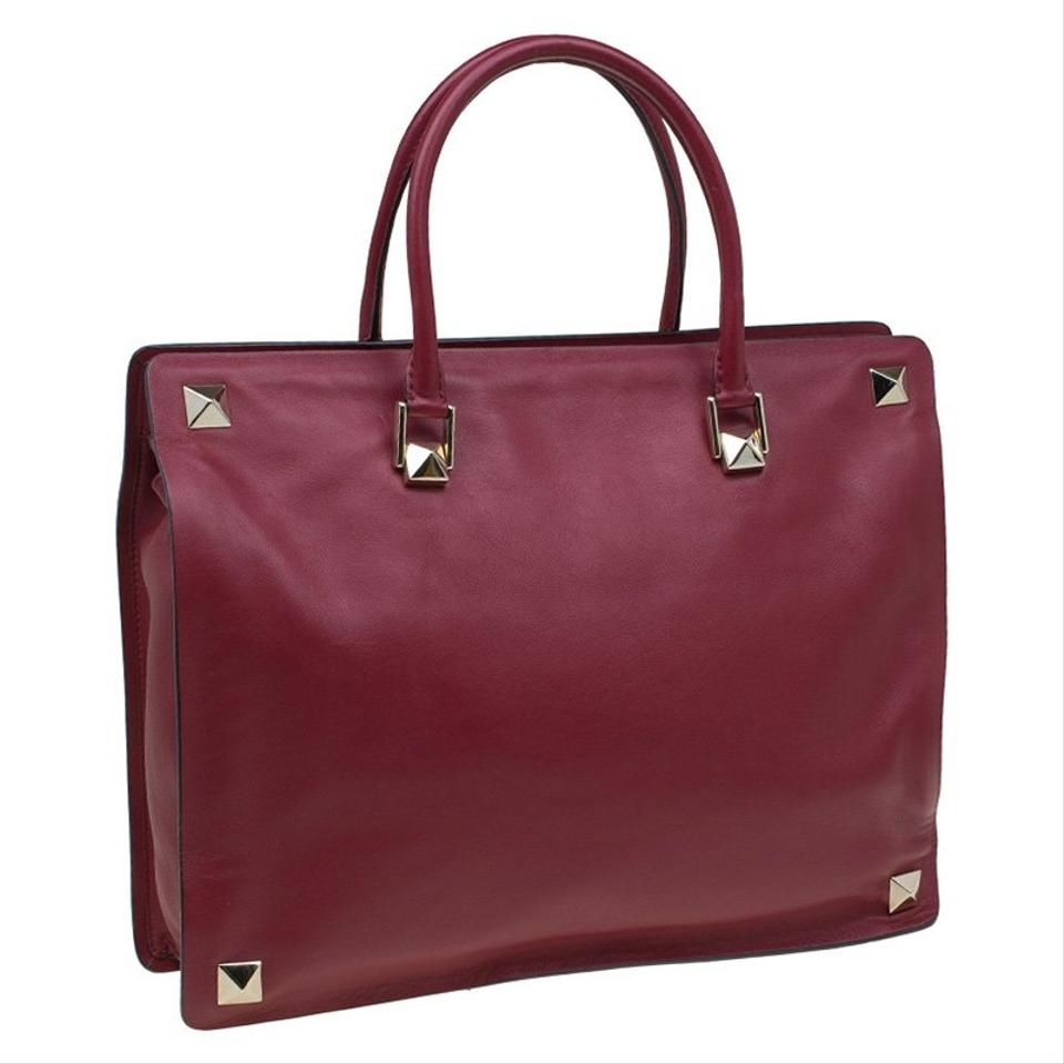 Valentino Tote Burgundy Tote Leather Rockstud Leather Rockstud Leather Rockstud Valentino Valentino Burgundy Tote Burgundy rwqFxrBZ