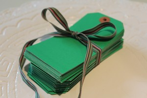Green (Kelly) Gift Tags/Escort Cards