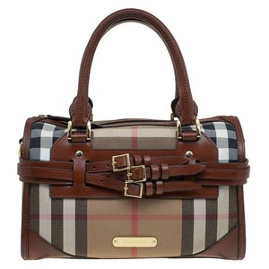Burberry Bridle Bowling Leather Satchel in Brown