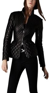 Burberry Lambskin Quilted Diamond Leather Jacket