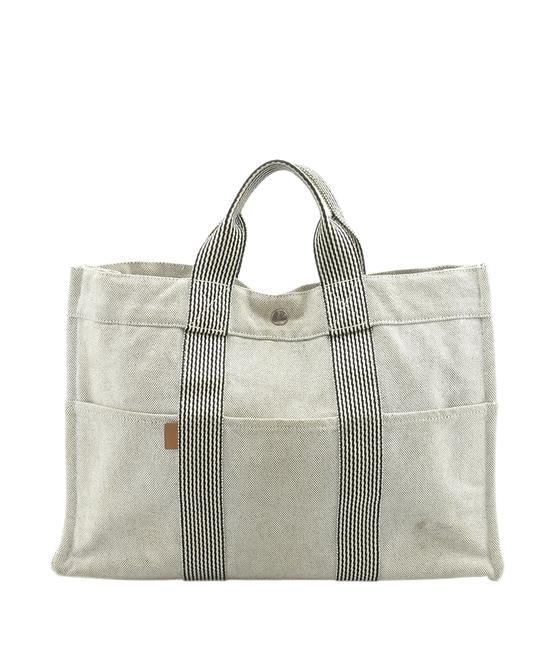 Item - Fourre Tout Mm Black and White Canvas Tote