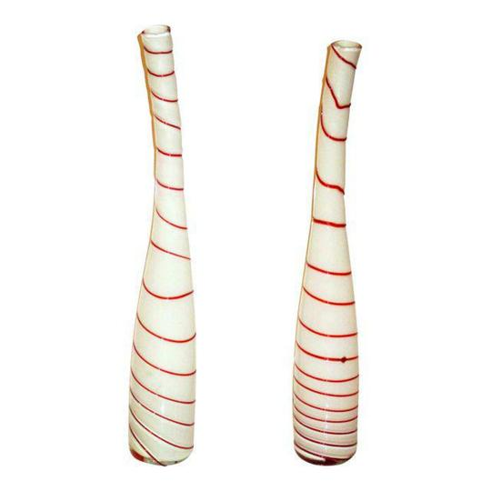 Preload https://item1.tradesy.com/images/murano-red-white-art-glass-peppermint-striped-vases-2-centerpiece-23068775-0-0.jpg?width=440&height=440