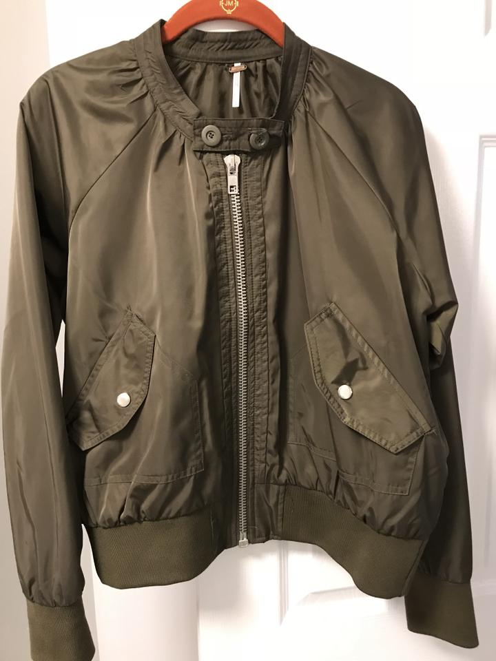 783b87448 Free People Olive Green Midnight Bomber Jacket Size 4 (S) 39% off retail