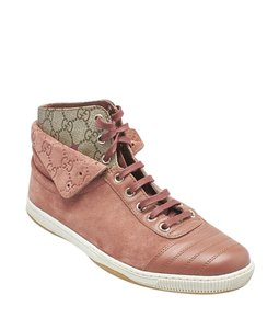 Gucci Sneakers Suede BrownxPink Boots