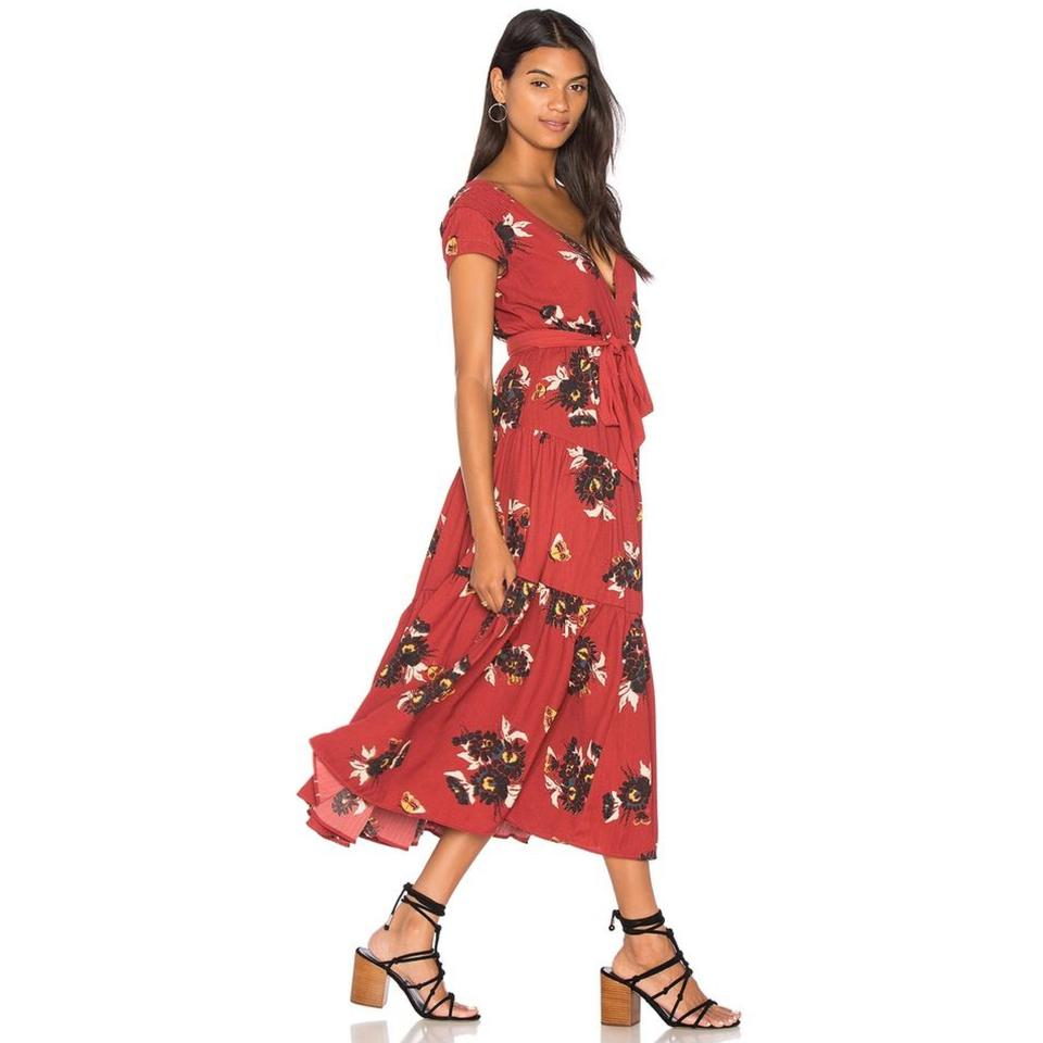 cd564d19056 Free People All I Got Floral Print Long Casual Maxi Dress Size 12 (L ...
