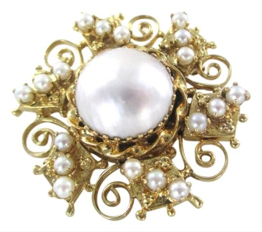 Preload https://item1.tradesy.com/images/gold-14k-solid-yellow-pendant-pearl-pin-brooch-vintage-166-grams-fine-2306895-0-0.jpg?width=440&height=440