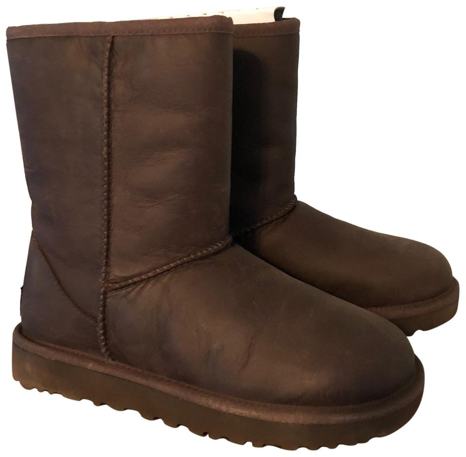 22c29b80cc6 UGG Australia Brown Classic Short Leather Boots/Booties Size US 5 Regular  (M, B) 41% off retail