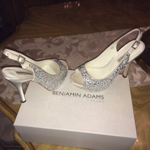 Benjamin Adams Gorgeous Shoe! Genuine Swarovski Crystal With Ivory Satin Wedding Shoes