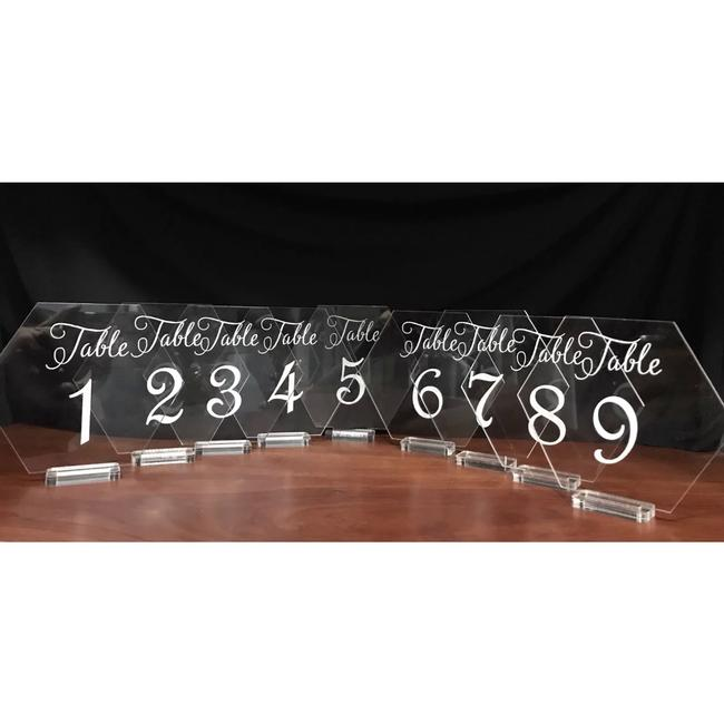 Item - Clear Table Number Ceremony Decoration