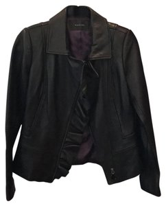 Tahari Chic Fitted Leather Jacket
