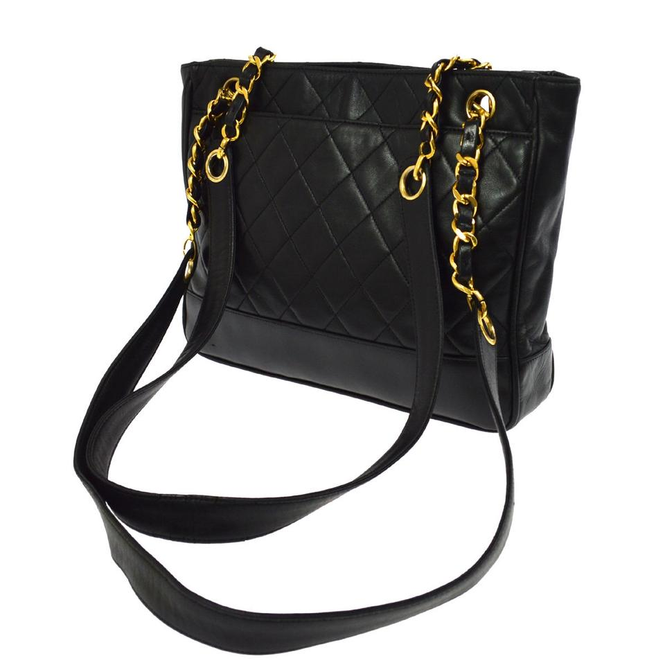 875632b3b80e Chanel Quilted Cc Chain Tote Black Leather Shoulder Bag - Tradesy