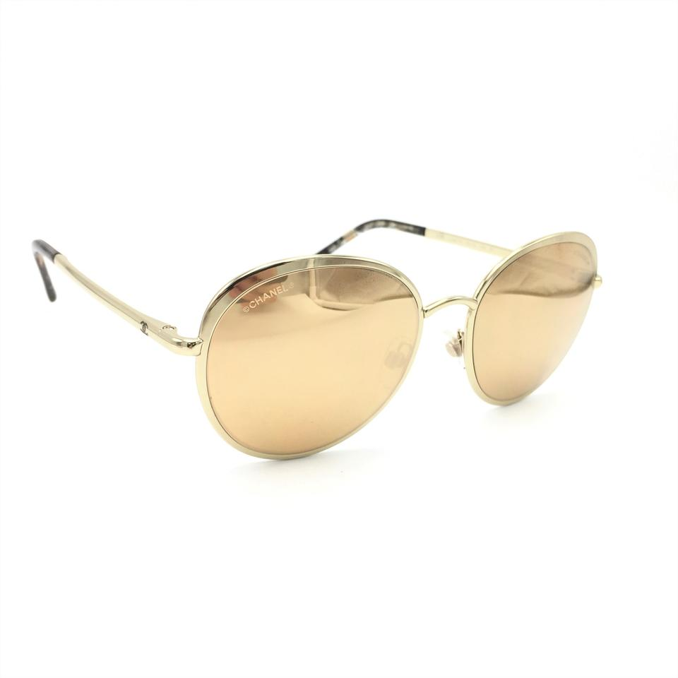 629b2cd80 Chanel 18 Karat Gold Round Spring Mirror 4206 395/T6 Sunglasses - Tradesy
