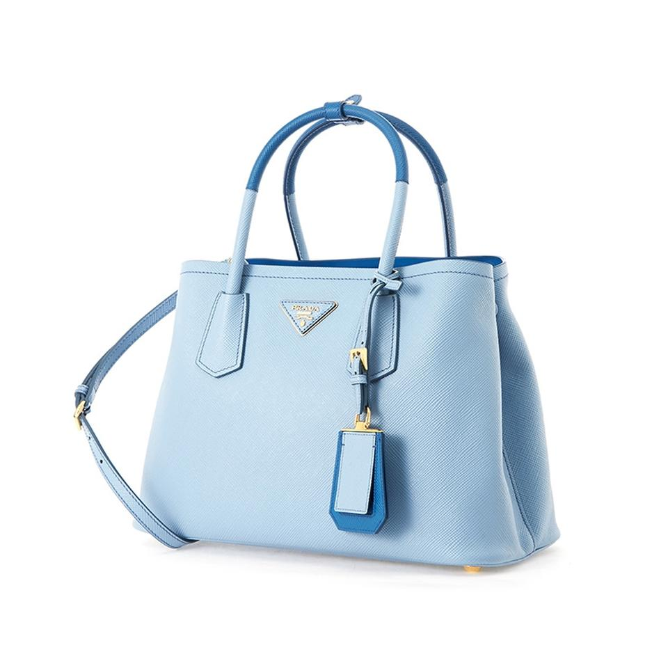 5f38e8ae53d4 ... saffiano leather tote with napa lining 1bg883 2acb6 364e1; coupon code  for prada handbags top handle satchel in light blue d5a23 4119f