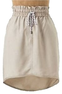 Anthropologie Mini Skirt Khaki