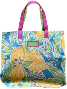Lilly Pulitzer Beach Preppy Lemons Tote in multi color