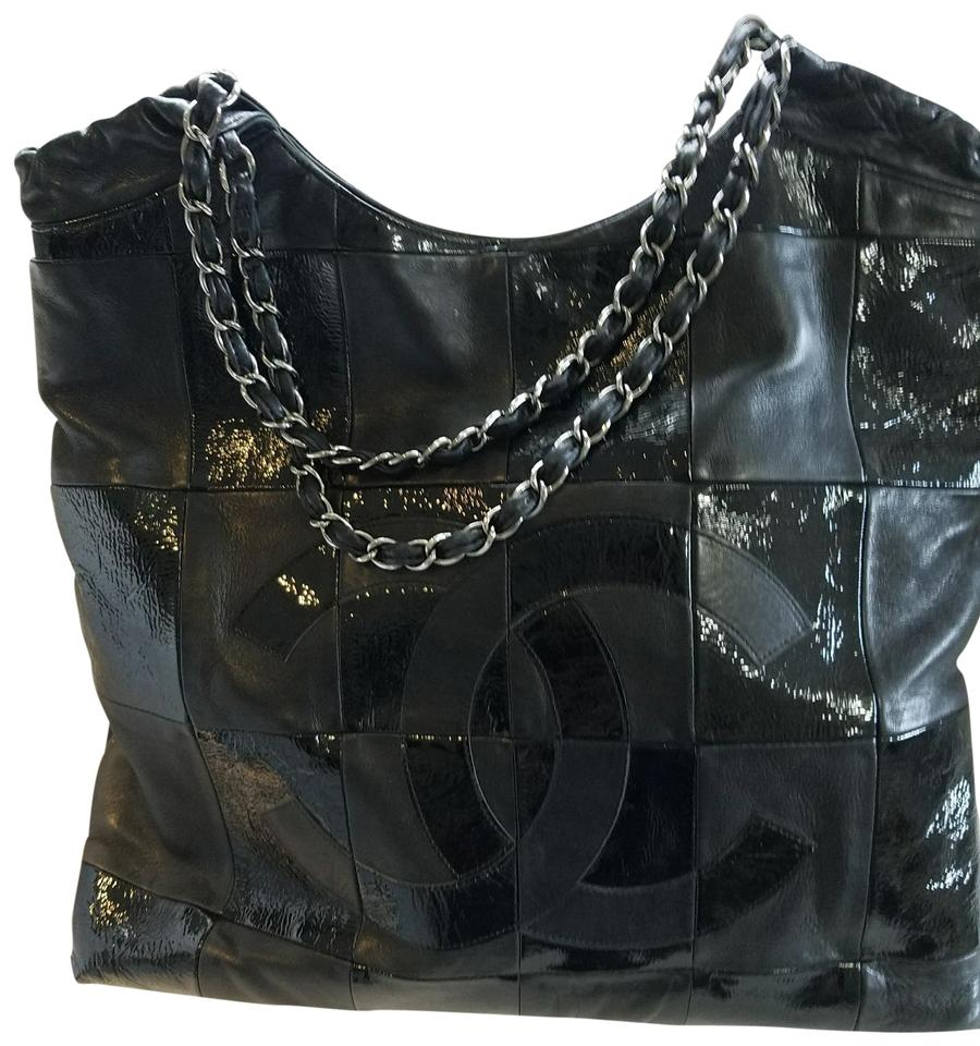 51477f1ead01 Chanel Cabas Brooklyn Patchwork Black Patent Leather Tote - Tradesy