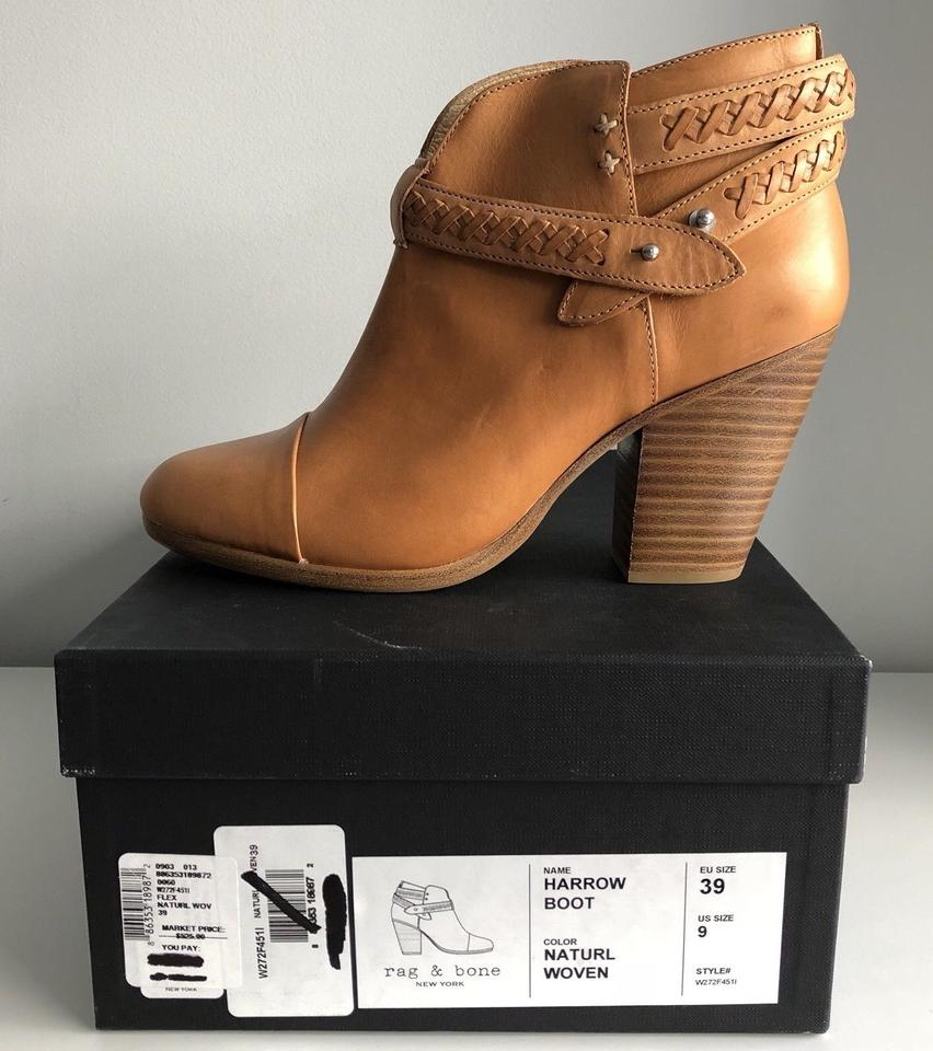 Boots Woven Bone Ankle Leather Rag Booties Harrow amp; Belted Natural YqOx8