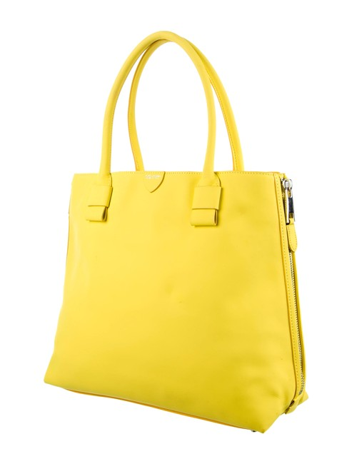Item - The Sheila Prince Large Rubberized Yellow Leather Tote