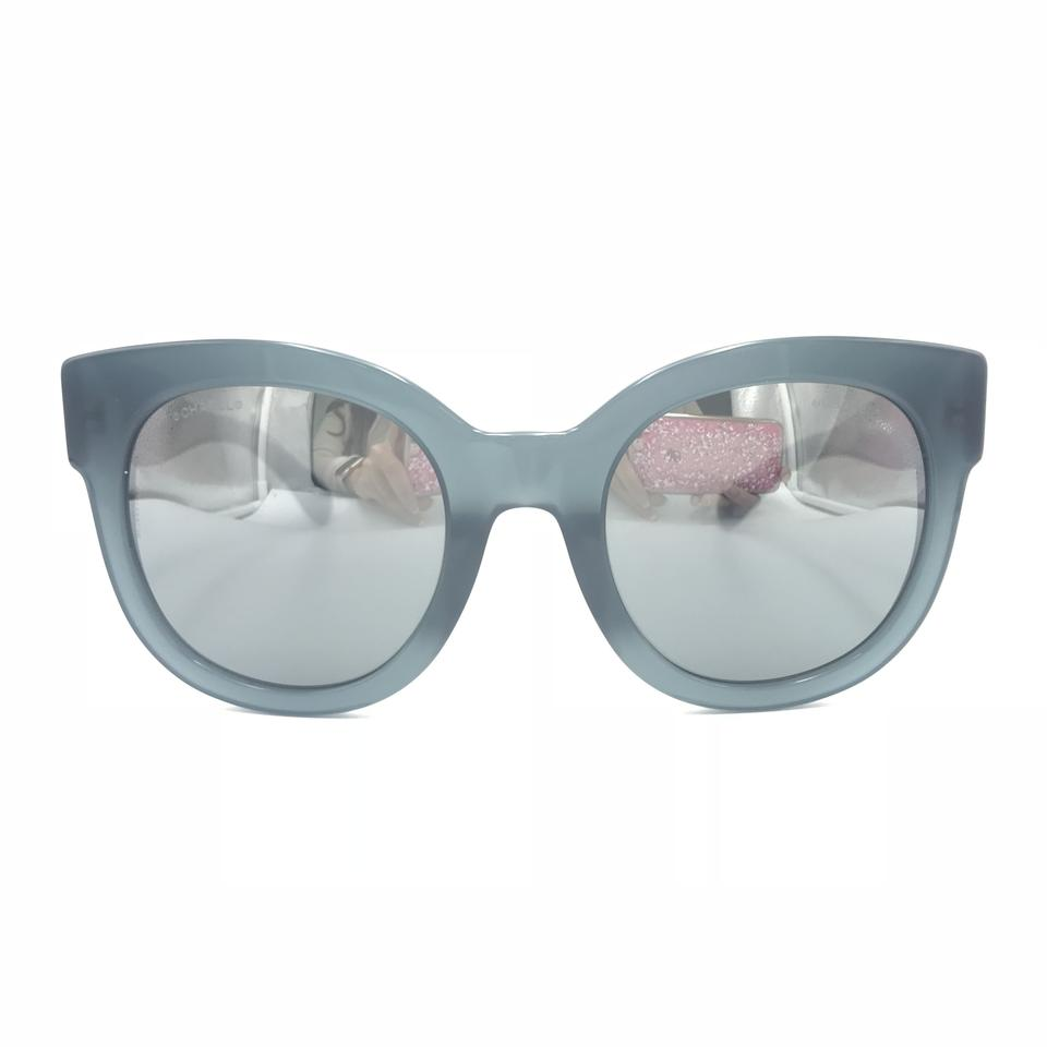 07d3f43d66ce Chanel Butterfly Blue Gray Gradient Mirror Sunglasses 5358A 1572W6 Image 0  ...