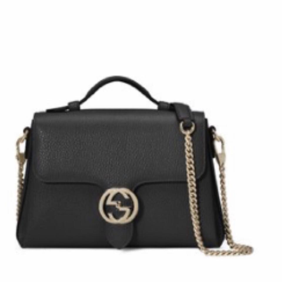24def685f8ac Gucci Interlocking Gg Small Leather with Chain Handle Cross Body Bag ...