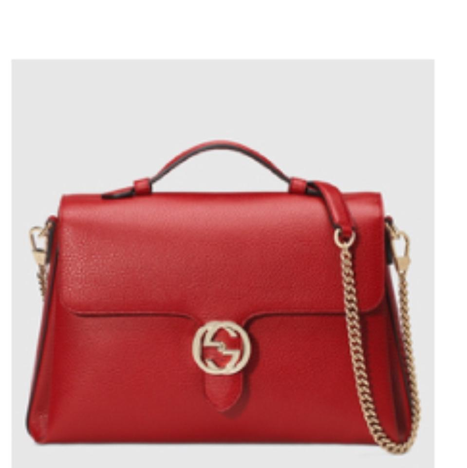 2de06573e22d Gucci Interlocking Gg Large Leather with Chain Handle Cross Body Bag ...