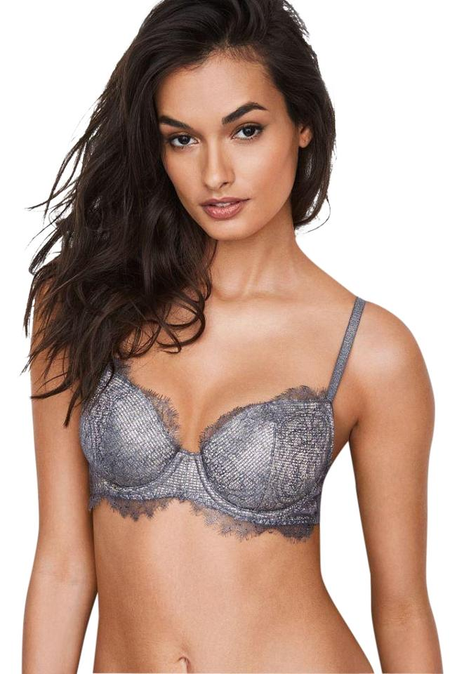 962b28c6e2161 Victoria's Secret Silver Dream Angels Demi Bra Black Pearl Shine 36ddd 14%  off retail