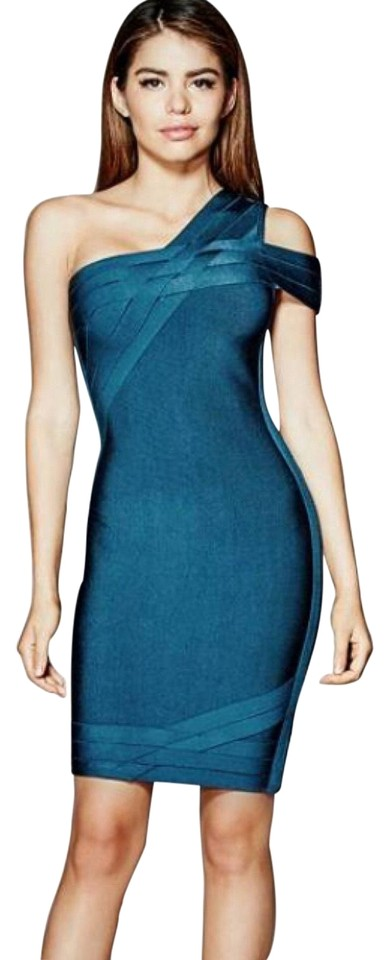 be1e4d27232 Guess By Marciano Blue Beda Bandage Short Cocktail Dress Size 0 (XS ...