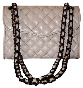 Rebecca Minkoff Black Chain Leather Monogram Quilted Cross Body Bag